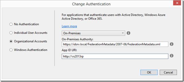 Using IdentityServer with VS2013/MVC5/One ASP.NET